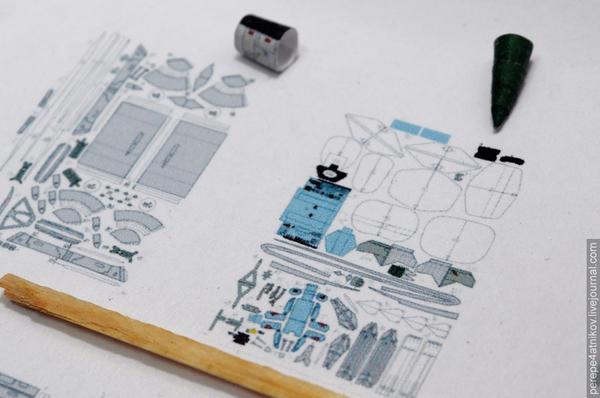 Самолет в лампочке Су-15тм, Из бумаги, Бумажный моделизм, Papercraft, Лампочка, Длиннопост