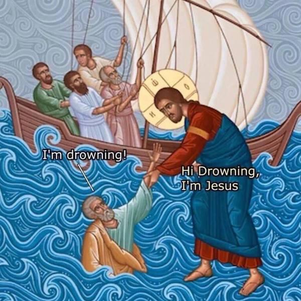 Страдающее Средневековье и Иисус Иисус, Страдающее средневековье, Вода