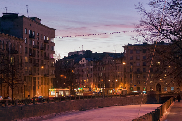 Вечер. Петроградка. Санкт-Петербург, Россия, Река Карповка, Вечер, Фотография