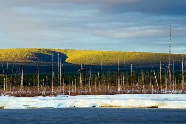Летом на реке Мома Якутия, Лед, Река, Лето, 2012, Россия, Фотография, Пейзаж, Длиннопост