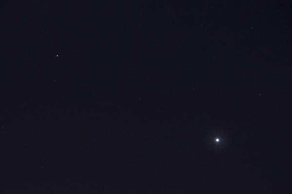 Луна, Венера, Марс в небе над Новосибирском 30.01.17 космос, Луна, венера, марс, новосибирск, длиннопост