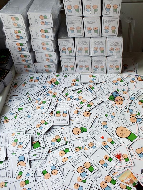 Joking Hazard: Спасибо Пикабушникам, мы сделали это! Cyanide and happiness, Joking Hazard, Карточная игра, Настольные игры, Своими руками, Длиннопост, Спасибо