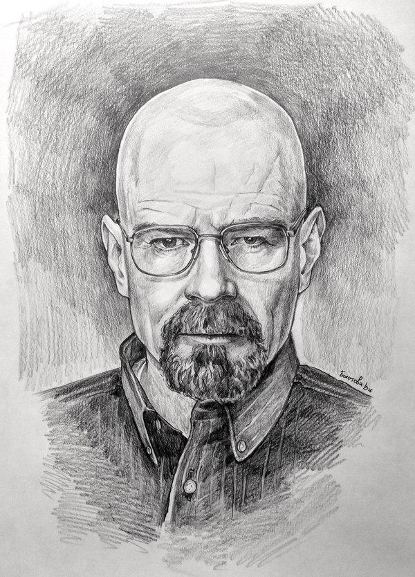 Во все тяжкие,  как Вам?) Портрет, Breaking bad, Хайзенберг, рисование, пикабу