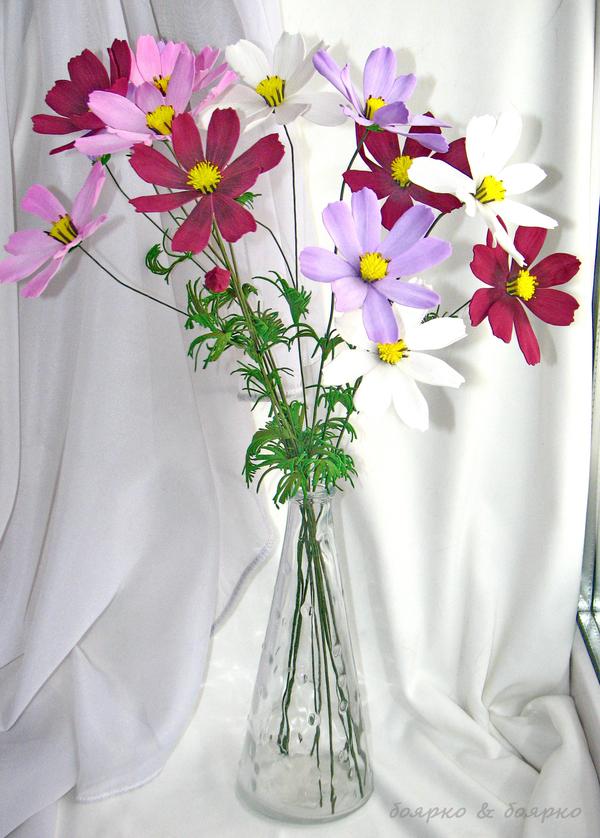 Цветы из моего детства Дети, Детство, космея, цветы, своими руками, из фоамирана, цветы из фоамирана, длиннопост