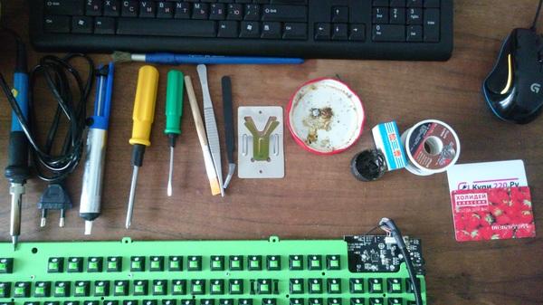 Устранение фантомных срабатываний Razer Blackwidow Ultimate Razer, Blackwidow, Ложные нажатия, Green switch, Залипания клавишь, Залитая клавиатура, Ремонт техники, Длиннопост