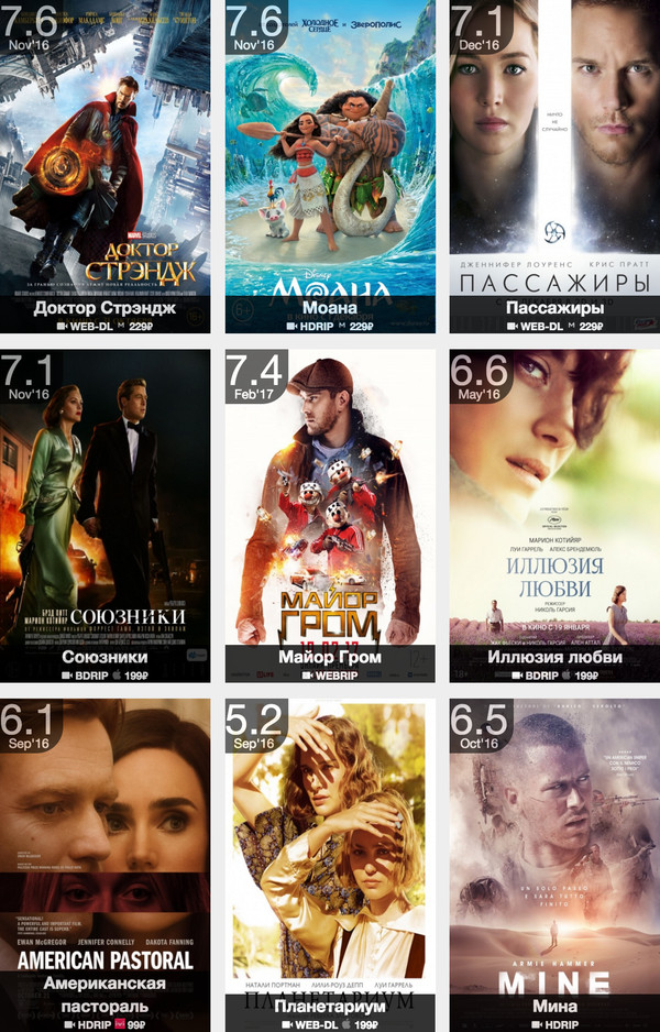 Свежие фильмы на выходные
