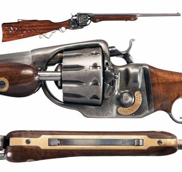 12-зарядная револьверная винтовка Джорджа Тибберта.