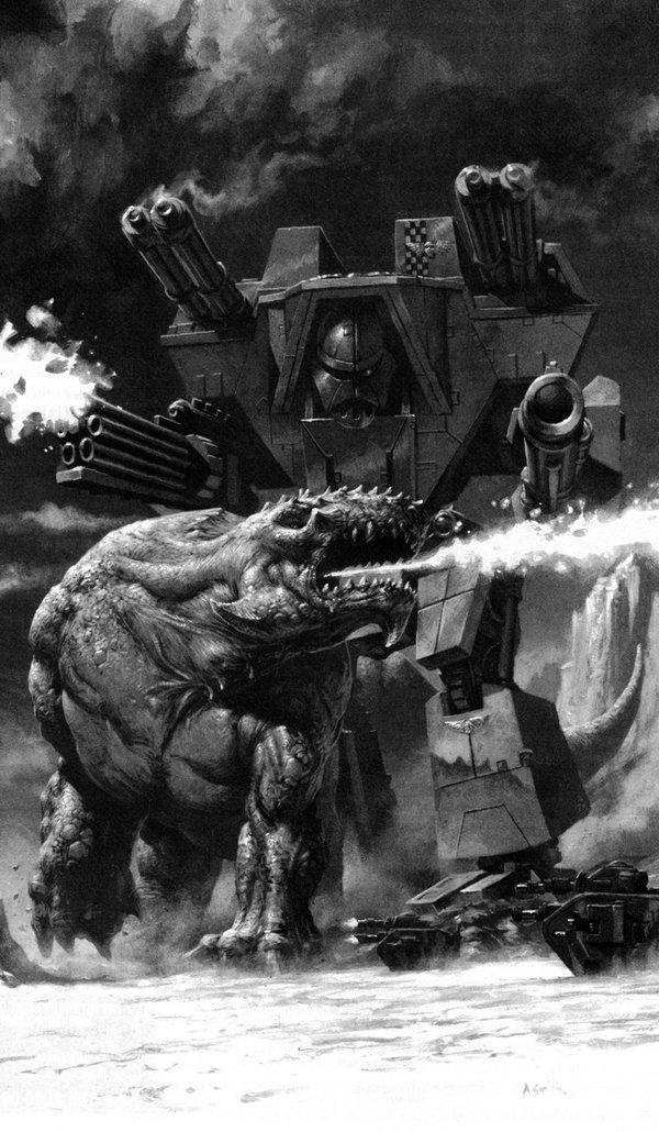 Старые добрые титаны вахи титан, Warhammer 40k, adeptus titanicus, длиннопост, Old Warhammer