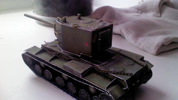 Кв-2 из бумаги Кв-2, Танки, Из бумаги, World of Tanks, Длиннопост