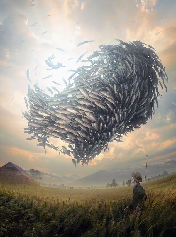 Астракционизм Фахури арт, рисунок, фотоманипуляции, настоящий канадец, бешеные идеи, Идея, рыбалка, абстракция, длиннопост