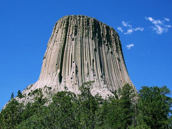 Башня дьявола Девилс-Тауэр, Башня дьявола, горы, США, длиннопост