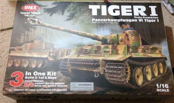 Набор для сборки немецкого танка Тигр I Tiger i, Танки, Радиоуправление, Taigen, Покраска, Длиннопост, Видео