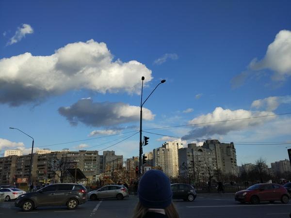 Жизнь проходит, машины проезжают, а красота момента остается. Небо, Фотография, Красота, Моё