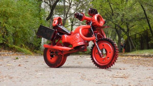 Мотоциклы из ненужных железяк. мотоциклы, мотоциклист, Мотоциклисту, железо, старое железо, сварные швы, Желтые воды, подарок, видео, длиннопост