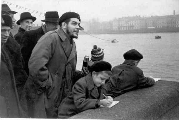 Эрнесто Че Гевара в Ленинграде, ноябрь, 1960-й год... Санкт-Петербург, Ленинград, Че Гевара, историческое фото, ссср