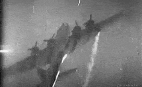 Взгляд с другой стороны Авиация, Вторая мировая война, Техника, b-17, Авиация второй мировой, Гифка