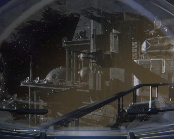 Звезда смерти Скриншот, Игры, Alien: Isolation, Чужой, Космос, Космический корабль, Моё