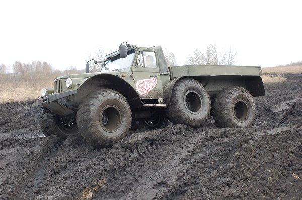 Машина лишь стилизована под ГАЗ-69 Газ-69, Внедорожник, Болотоход, Длиннопост