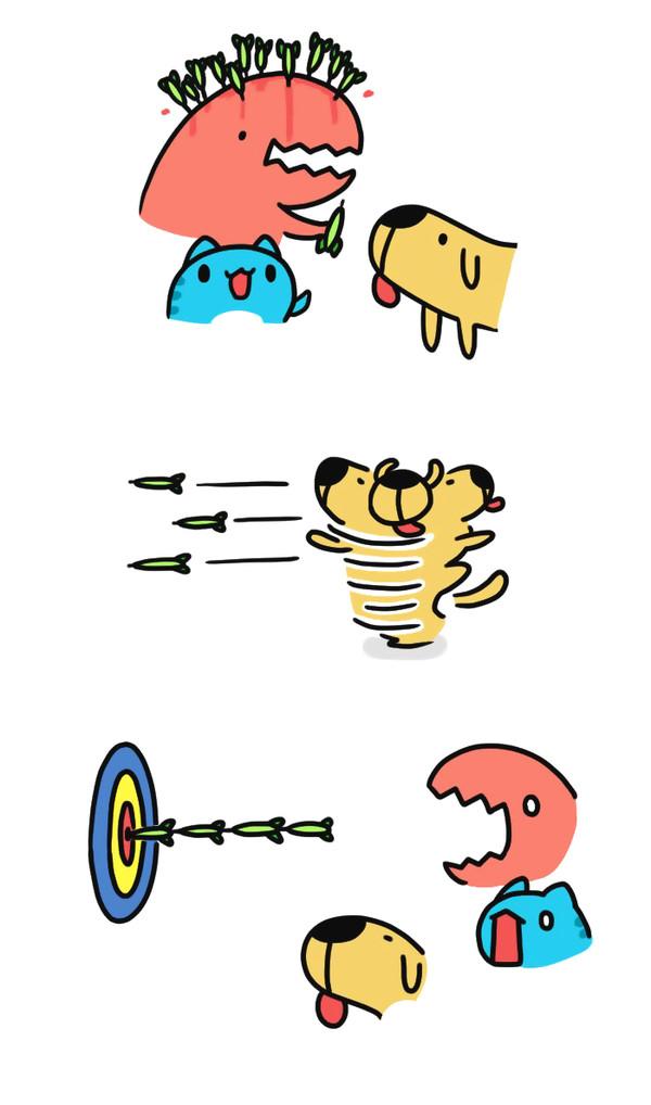 Метко! Bugcat-Capoo, Бракованный кот, Кот, Комиксы, Дартс, Игры, Дротик, Меткость, Длиннопост