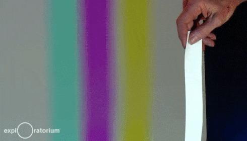 Цветные тени Физика, Излучение, Свет, Цвет, Смешение, Интересное, Гифка, Длиннопост
