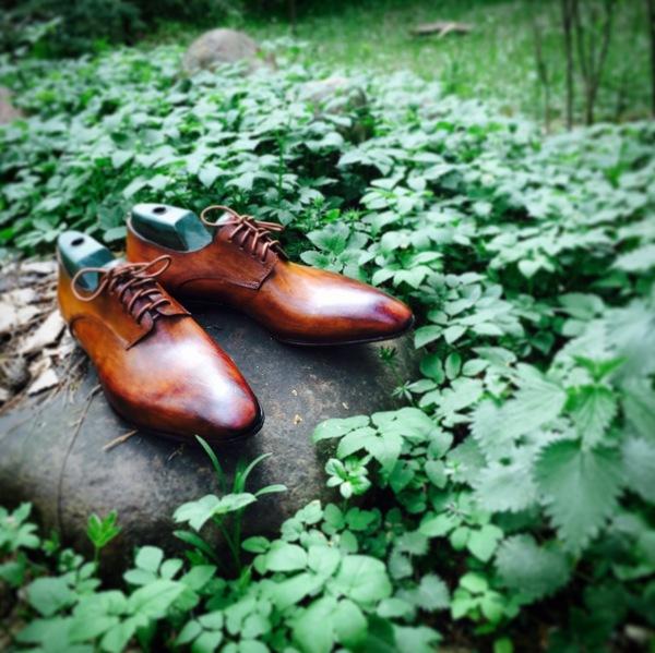Ещё одна из выполненных работ ручная работа, кожа, обувь, туфли, моё