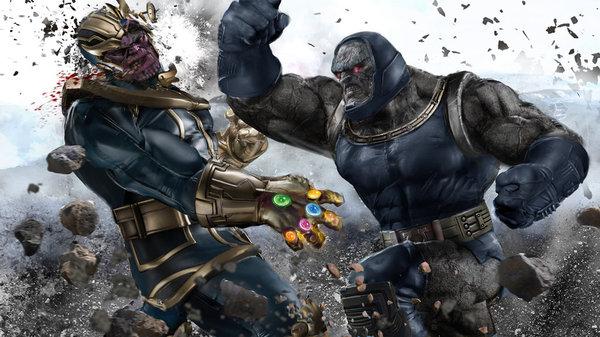 И перчатка не помогла видимо Darkseid, Thanos, дарсайд, танос, перчатка бесконечности, marvel