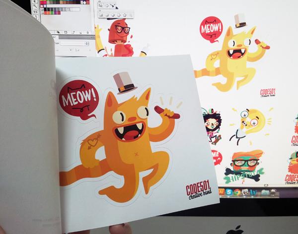 Мои персонажи (часть I) Иллюстрации, Стикеры, Персонажи, Code501, Стрит-Арт, Видео, Вдохновение, Длиннопост