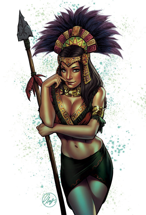 Aztec Princess Арт, Ацтеки, Принцесса