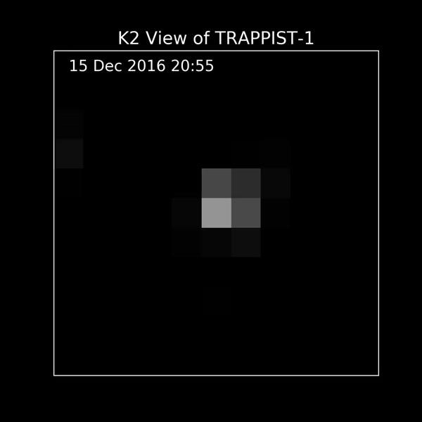 NASA показало данные Кеплера о TRAPPIST-1 Космос, Trappist-1, Кеплер, Гифка