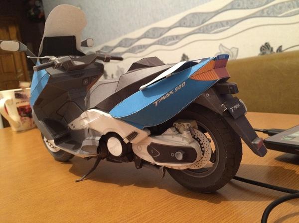 Yamaha T-Max 500 Yamaha, t-Max500, Скутер, Мото, Papercraft, Длиннопост