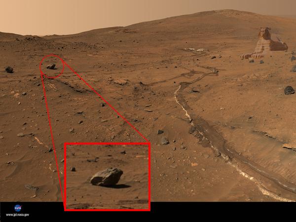 На Марсе нашли странный камень, очень похожий на жабу