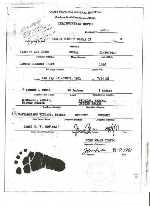 Сводный брат Обамы публикует свидетельство о рождении Барака Обамы: Обама не мог быть президентом США. Обама, Свидетельство, США, фотография, длиннопост, политика