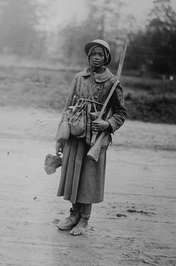 Молодой сенегальский тиральер 24 октября 1916 под Верденом.