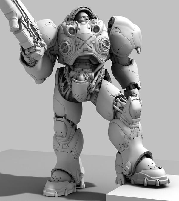 Terran marine. Часть 6. Terran marine, игры, starcraft, костюм, MoV22, длиннопост, Видео