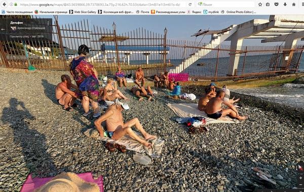 Прогулки с Google по пляжам Сочи. Google, Сочи, Пляж