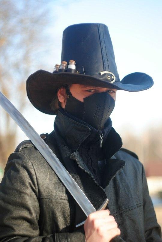 Шляпа Warhammer: охотник на ведьм Шляпа, Кожа, Натуральная кожа, Ручная работа, Warhammer, Длиннопост