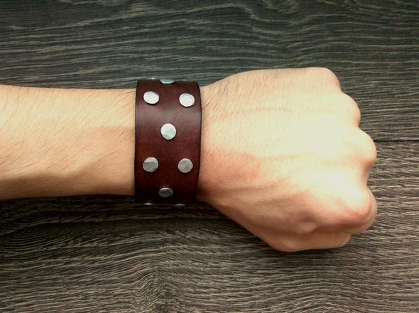 Кожаный браслет Rocksteady Браслет, Изделия из кожи, Кожа, Своими руками, Ручная работа, Handmade, Украшение, Мужчинам, Длиннопост