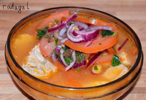 """Блюда народов мира. Эквадорская кухня. Рыбный суп с луком """"Энсебойядо"""". кухня, блюдо, эквадор, длиннопост, рецепт"""
