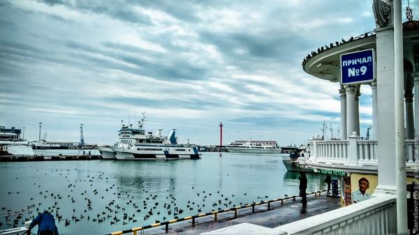Морской порт Сочи Фотография, Море, Корабль, Сочи, Россия, Мобильная фотография, Длиннопост