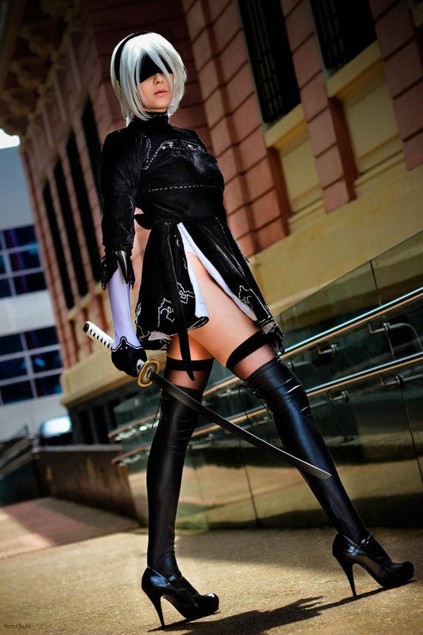 2B cosplay [by RizzyOkuni] Nier, Nier automata, Yorha unit no 2 type b, Yorha 2b, Косплей, DeviantArt, Длиннопост