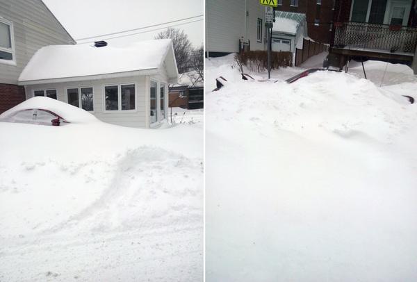 Снежный шторм Стелла или канадская весна (15 марта 2017) Канада, Снежная буря, Квебек, Стелла, Снег, Весна, Зима, Длиннопост