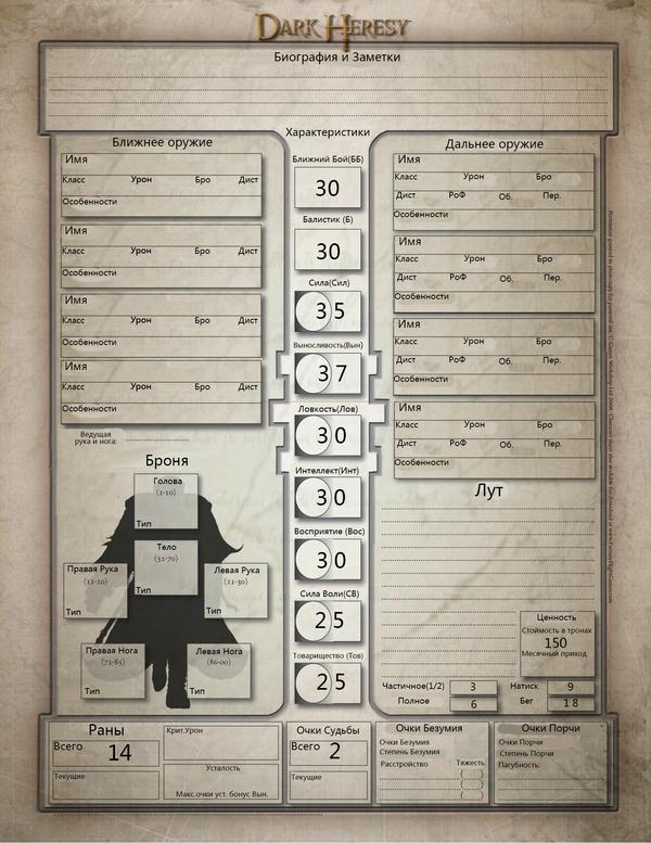 Как играть в Темную Ересь. Часть 2. Warhammer 40k, Длиннопост, WH other, Dark Heresy
