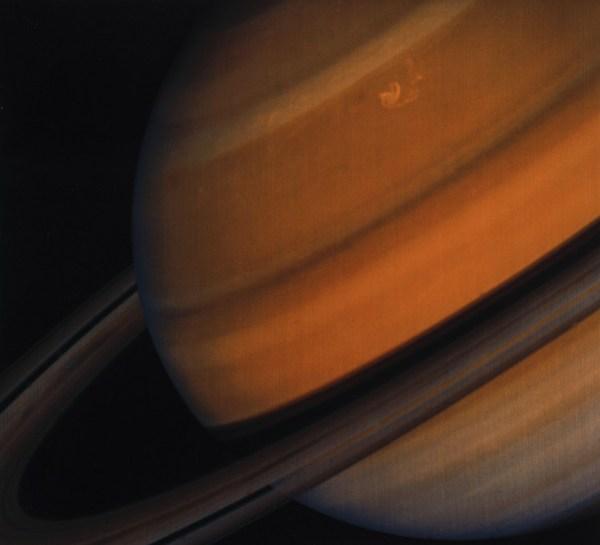 Кольца Сатурна, снятые аппаратом Вояджер-2