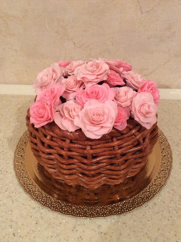 торт корзинка роз кремовый фото иногда могут возникать