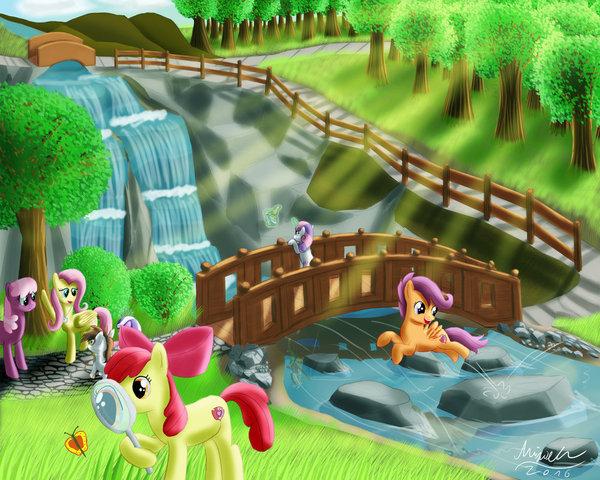School Trip My little pony, Ponyart, Fluttershy, Cheerilee, Sweetie Belle, Scootaloo, Applebloom, Pipsqueak