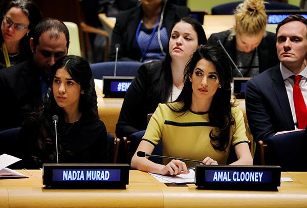На днях перед ООН выступила Амаль Клуни ИГИЛ, Юристы, Красивая девушка, Умница, Политика