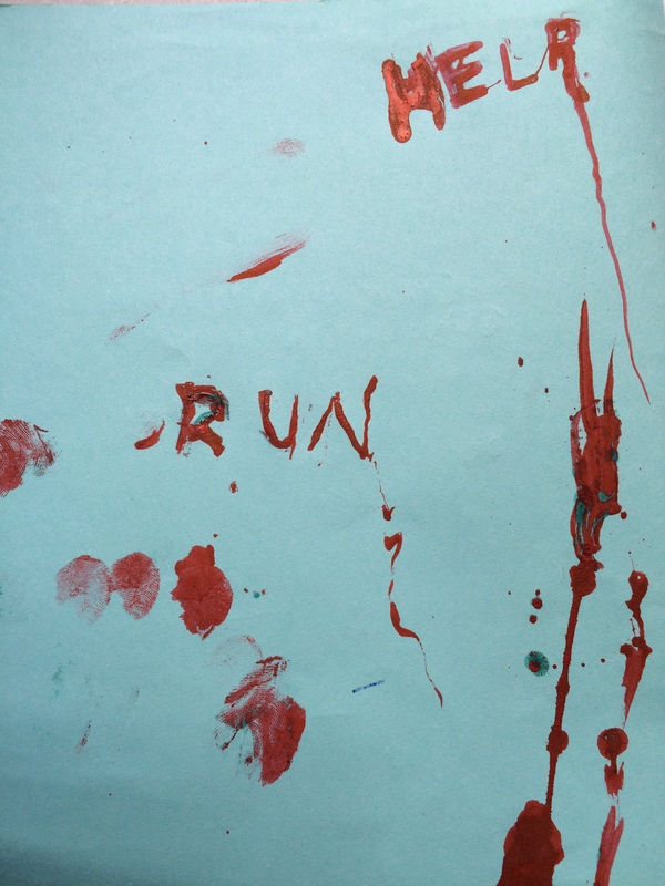 Красная ручка Ручка, Школа, Страшно, Хоррор, Кровь, Длиннопост, Моё