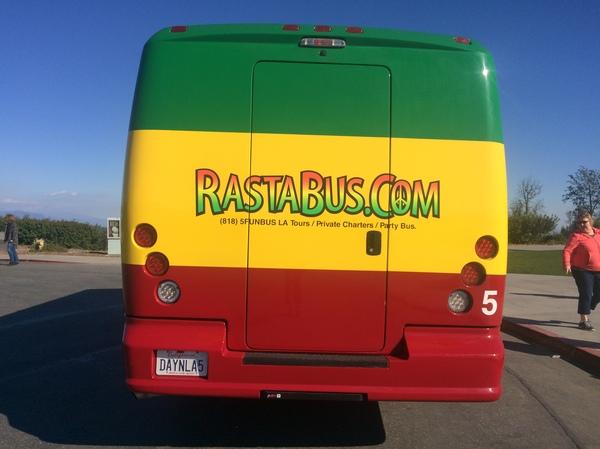 Раста автобус в Калифорнии Марихуана, Трава, Калифорния, США, Америка, Американцы, Наркотики