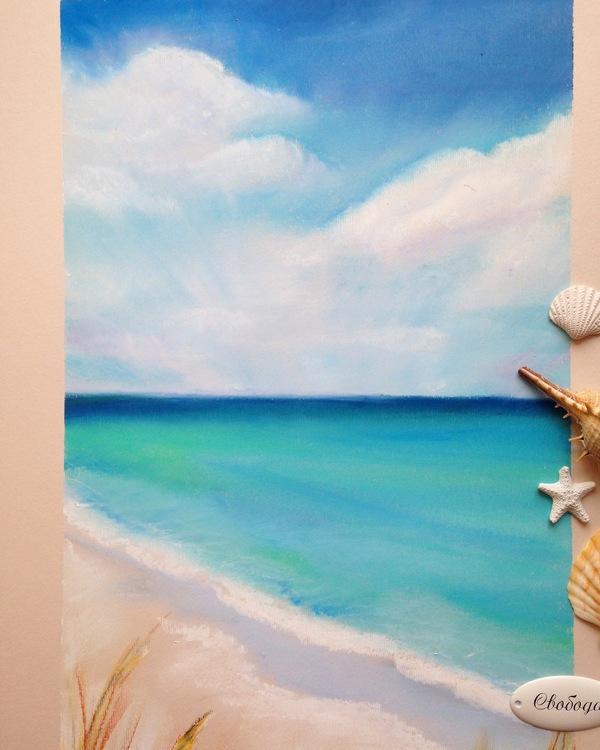 А я не только котов рисовать могу ) Рисунок, масляная пастель, творчество, длиннопост