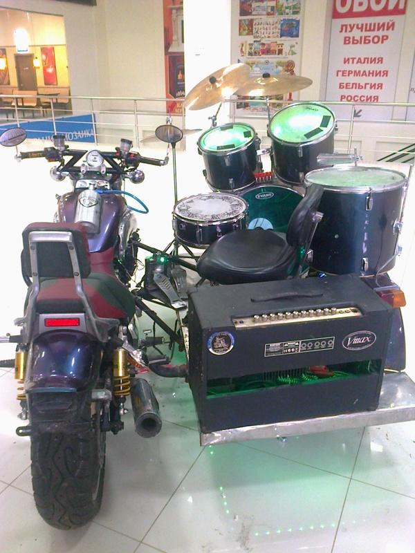 Передвижная ударная установка Ударные, барабаны, мотоциклы, длиннопост